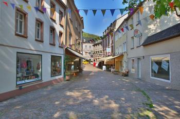 Zijstraat van het marktplein