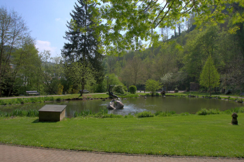 The Stadtweier in the park of Neuerburg